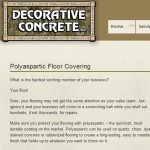 Article about polyaspartic floor covering