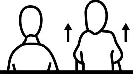 shrugging diagram